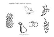 ציור של פירות לצביעה