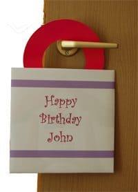 כרטיסי ברכה ומתנה לתלייה על הדלת