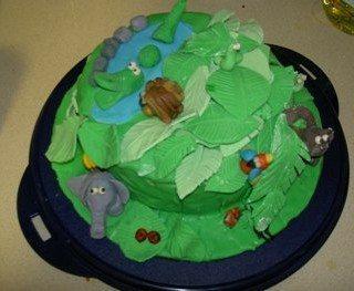 עוגות יום הולדת | עוגת ג'וינגל – עוגת חיות