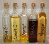 בקבוקים לשמן וחומץ