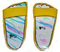 יצירה לילדים - הכנת סנדלים