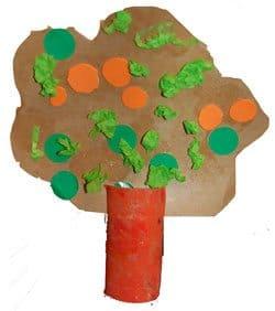עץ תפוזים מגליל נייר טואלט