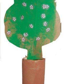 עץ פורח מגליל נייר טואלט