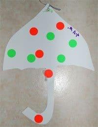 יצירה לילדים לחורף | מטריה