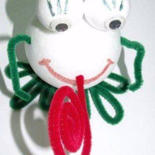 יצירה לילדים – צפרדע מכדורי קלקר