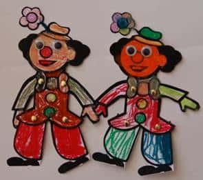 יצירה לילדים - ליצן רוקד