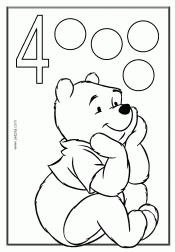 דף צביעה להכרת המספרים
