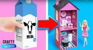 יצירה להכנת בית בובות מקרטון חלב