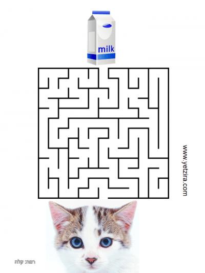 מבוכים להדפסה עם חתולים