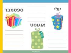 רשימה של ימי הולדת